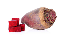 Red beetroot on a white background Royalty Free Stock Image