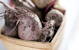 Red Beets in a basket Royalty Free Stock Image