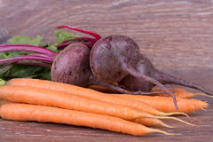 Red beets and carrots Stock Photos