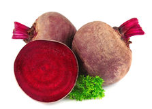 Red beets with parsley leafs Stock Photography