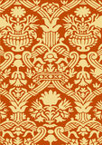 Red and beige abstract floral pattern vintage background Royalty Free Stock Image