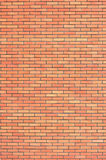 Red beige brick wall texture, vertical pattern background, large detailed textured brick-wall copy space closeup natural grungy Stock Image
