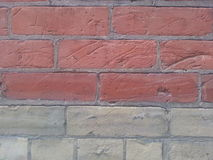 Red and Beige Bricks Royalty Free Stock Image