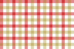 Red beige check fabric texture background seamless pattern Stock Images