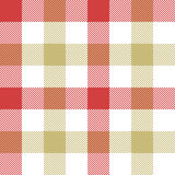Red beige check plaid seamless pattern. Vector illustration. EPS 10 Stock Images