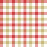 Red beige check tablecloth seamless pattern Stock Photos