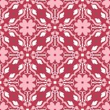 Red and beige floral background. Colored seamless pattern. For wallpapers, textile and fabrics Stock Photos