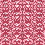 Red and beige floral background. Colored seamless pattern. For wallpapers, textile and fabrics Stock Image