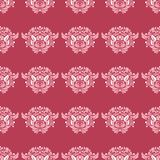Red and beige floral background. Colored seamless pattern. For wallpapers, textile and fabrics Stock Photography