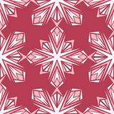 Red and beige floral background. Colored seamless pattern. For wallpapers, textile and fabrics Royalty Free Stock Photos