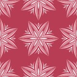 Red and beige floral background. Colored seamless pattern. For wallpapers, textile and fabrics Stock Images