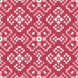 Red and beige floral seamless pattern. Pale red colored background. For wallpapers and textile Stock Image