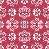 Red and beige floral seamless pattern. Pale red colored background. For wallpapers and textile Stock Photography