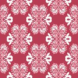 Red and beige floral seamless pattern. Pale red colored background. For wallpapers and textile Royalty Free Stock Image