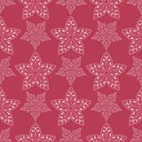 Red and beige floral seamless pattern. Pale red colored background. For wallpapers and textile Stock Images