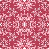 Red and beige floral seamless pattern. Pale red colored background. For wallpapers and textile Royalty Free Stock Photo