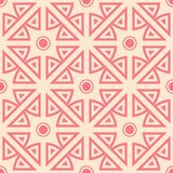 Red and beige geometric seamless pattern. For web, textile and wallpapers Royalty Free Stock Images