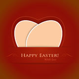 Red beige Happy Easter background royalty free illustration