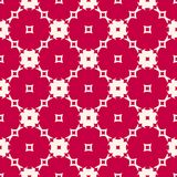 Red and beige seamless pattern with floral shapes, mosaic tiles. Festive holiday design. Red and beige seamless pattern with floral shapes, mosaic tiles Royalty Free Stock Photos
