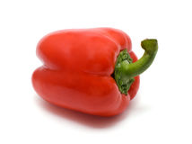 Red bel pepper. On white background Stock Image