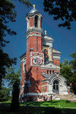 Red Belarusian Orthodox Church Royalty Free Stock Photos