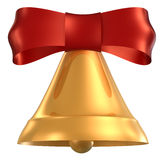 Red bell. With clipping path vector illustration