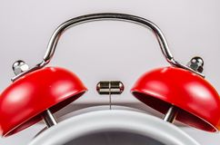 Red bell of alarm clock. Close up Red bell of alarm clock Stock Photography