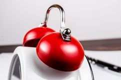 Red bell of alarm clock Royalty Free Stock Images