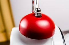 Red bell of alarm clock Stock Photo