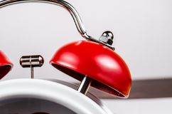 Red bell of alarm clock Stock Images