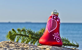Red bell on the beach of Red Sea, Eilat Royalty Free Stock Photo