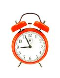 Red bell clock (alarm clock) Royalty Free Stock Photo