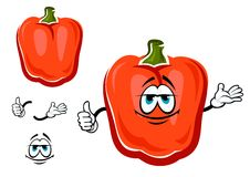 Red bell pepper cartoon vegetable Stock Image