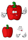 Red bell pepper character Stock Photos