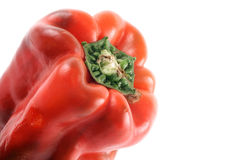 Red bell pepper close Royalty Free Stock Images
