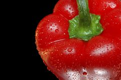 Red bell pepper closeup stock photography