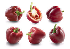 Red bell pepper collection for package design Royalty Free Stock Photo