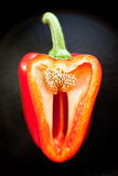 Red bell pepper halved Stock Image