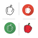 Red bell pepper icon Royalty Free Stock Photo