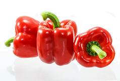 Red bell pepper isolated on white background Stock Photography