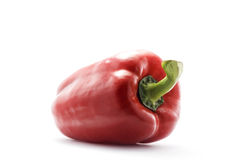 Red bell pepper. Bell pepper isolated on white background Royalty Free Stock Image