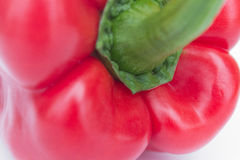 Red bell pepper macro / capsicum  / sweet pepper Royalty Free Stock Images