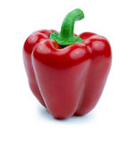 Red bell pepper (paprika) isolated on a white Royalty Free Stock Photo