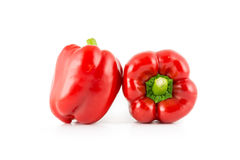 Red bell pepper. S isolated on white background Stock Photo