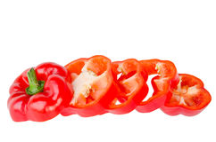 Red bell pepper slice Royalty Free Stock Photography