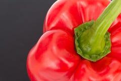 Red bell pepper  / sweet pepper / capsicum  on black backg Royalty Free Stock Images