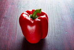 Red bell pepper on the table Royalty Free Stock Photo