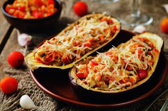 Red Bell pepper tomato carrots stuffed eggplant Stock Images