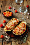 Red Bell pepper tomato carrots stuffed eggplant Stock Image