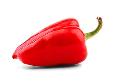 Red bell pepper on white Stock Image